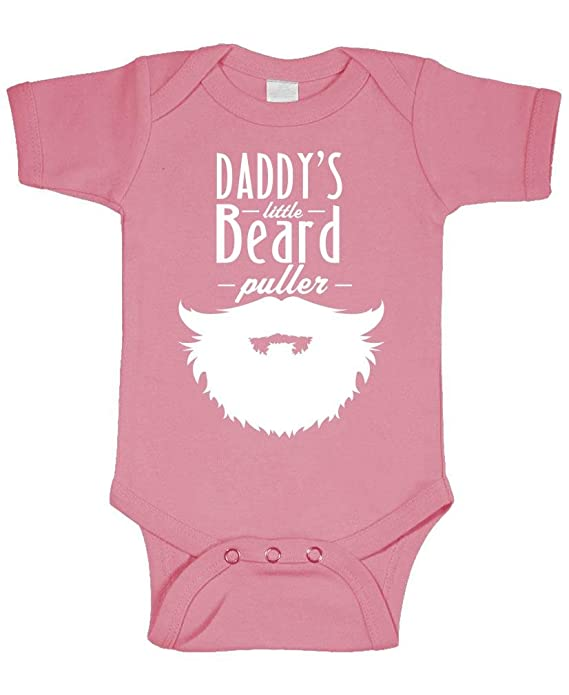 cc9053244 Amazon.com: Daddy's Little Beard Puller - Epic Manly - Cotton Infant  Bodysuit: Clothing