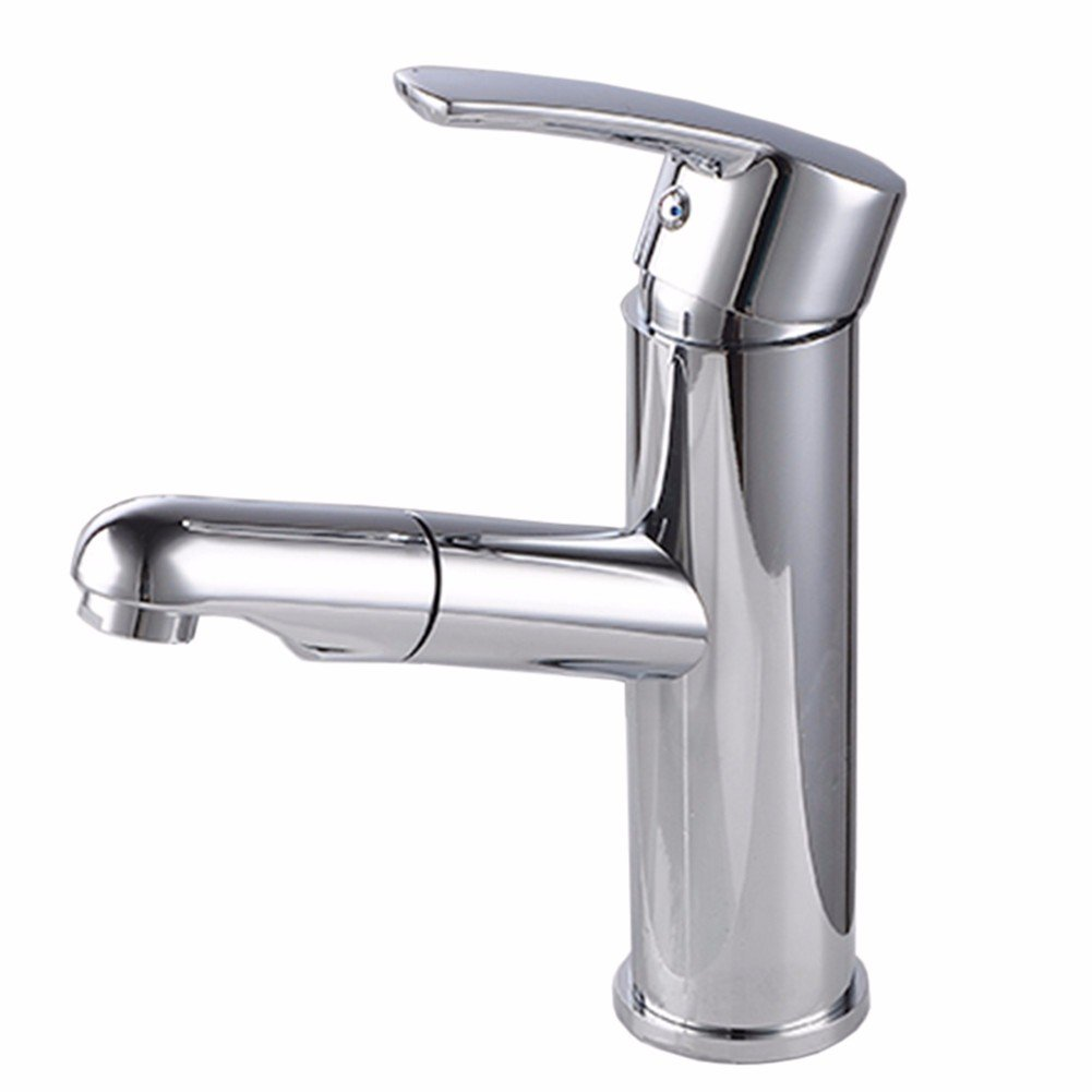 KaO0YaN-Tap Copper Single Hole hot and Cold Water Faucet can Pull The Seated Ceramic Piece Valve core Kitchen Bathroom Basin Faucet