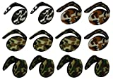 Top Quality 12 PCS Youth Earmuffs Warmer Polar Fleece Kids Earmuffs Soft Color Assorted #JJTH