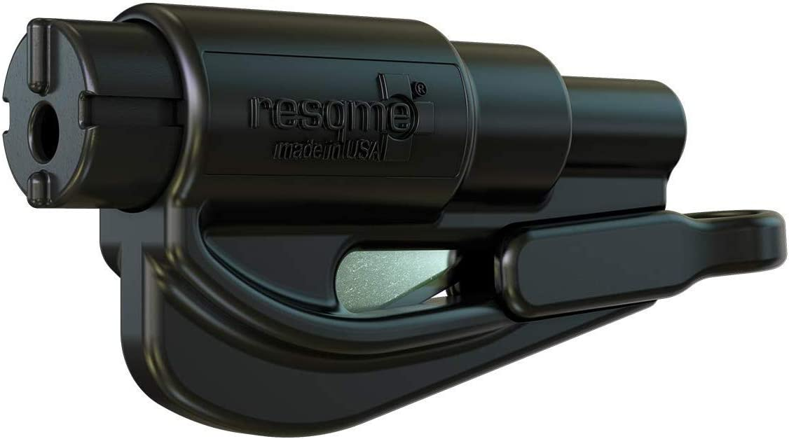 resqme The Original Keychain Car Escape Tool, Made in USA (Black): Automotive