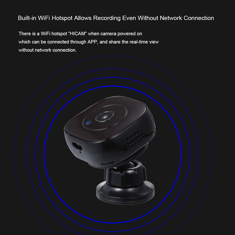 Amazon.com : Mini Camera 1080p Portable Video er IP Night Vision Wearable Micro cam with Motion Sensor Security Magnetic-Back dv/WiFi : Camera & Photo