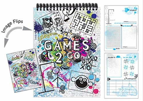 iscream Games-2-Go 6 Game 8.5 Spiral-Bound Activity Book with Picture-Flip Cover