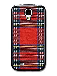 Cool Red Blue and Yellow Scottish Tartan Pattern carcasa de Samsung Galaxy S4