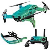 MightySkins Skin For DJI Max Coverage - Blue Green Polygon | Protective, Durable, and Unique Vinyl Decal wrap cover | Easy To Apply, Remove, and Change Styles | Made in the USA