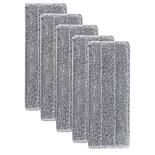 (NszzJixo9 Replacement Microfiber Washable Spray Mop - Dust Mop Household Mop Head Cleaning Pad - Microfiber Mop Refill Replacement for Wet Mop and Dry Dust Mop (5X))