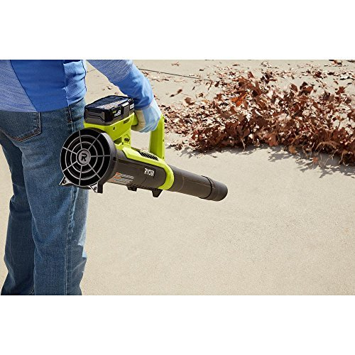 Ryobi ONE+ 90 MPH 200 CFM 18-Volt Lithium-Ion Heavy Duty Durable Cordless Leaf Blower - 2.0 Ah Battery and Charger Included, Compact, Lightweight Design Ideal For Use On Hard Surfaces by Generic