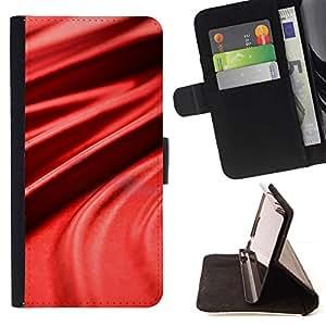Red Silk Cloth Imitation Velvet - Modelo colorido cuero de la carpeta del tirón del caso cubierta piel Holster Funda protecció Para Samsung Galaxy A5 ( A5000 ) 2014 Version