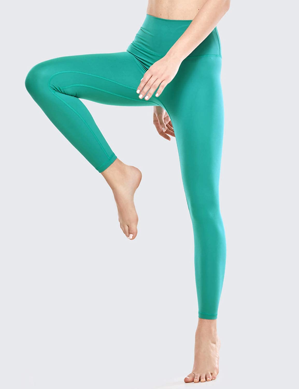 63cm CRZ YOGA Damen Hohe Taille Sport Leggings Fitness Hosen mit Tasche Yogahose