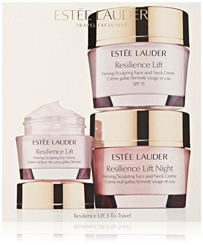 Estee Lauder 3 Piece Resilience Lift 3-To-Travel for Face and Eye Kit for Unisex (Estee Lauder Eye Cream Lift)