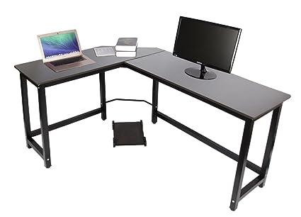 Amazon Com Easeurlife L Shaped Computer Desk Corner Desks For Home
