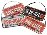 HARLEY-DAVIDSON Winter Embossed License Plate Ornament Set, Set of 4 HDX-99133