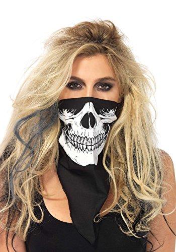 Leg Avenue Skull Bandana, Black/White, One Size