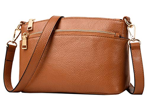 Package SAIERLONG Clutch Women's 02 Brown Leather Retro Diagonal Shoulder Small Bag Genuine qz7z4xXr