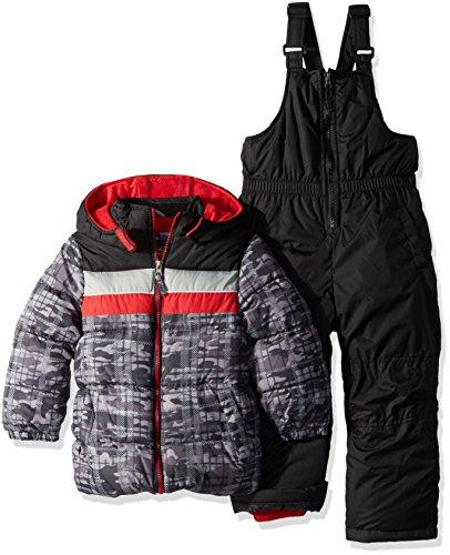 iXtreme Baby Boys Infant Camo Print Snowsuit, Black, 24M