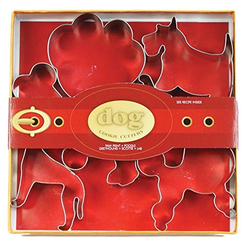 Dog Shaped Cookie Cutters (Fox Run 36011 Dog Cookie Cutter Set, Tin-Plated Steel, 6-Piece)