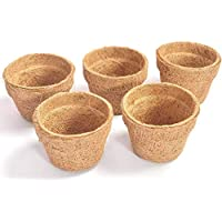 COIR GARDEN Coir Pot, Coco Basket Large Size Seedling Cups for Plants, 4 inch (10 cm) 5 Pieces