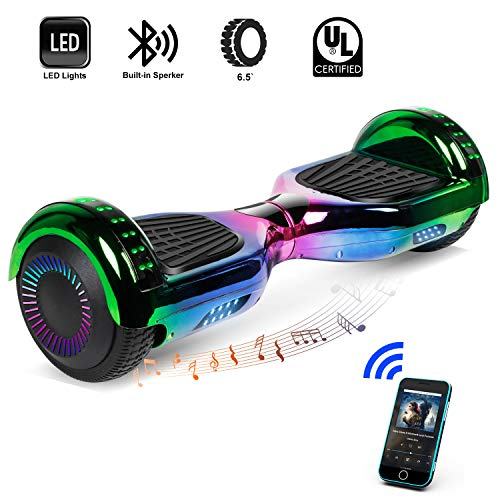 CBD 6.5″ Hoverboard with Bluetooth, Two Wheels Self-Balancing Electric Scooter, Smart Hover Board with LED Light for Kids, UL2272 Certified
