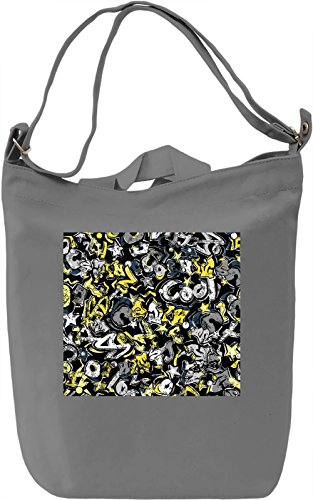 Modern Print Borsa Giornaliera Canvas Canvas Day Bag  100% Premium Cotton Canvas  DTG Printing 