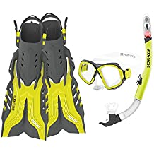 Body Glove Fiji Mask Snorkel and Fin Set with GoPro Mount