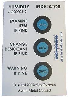 humidity indicator sticker