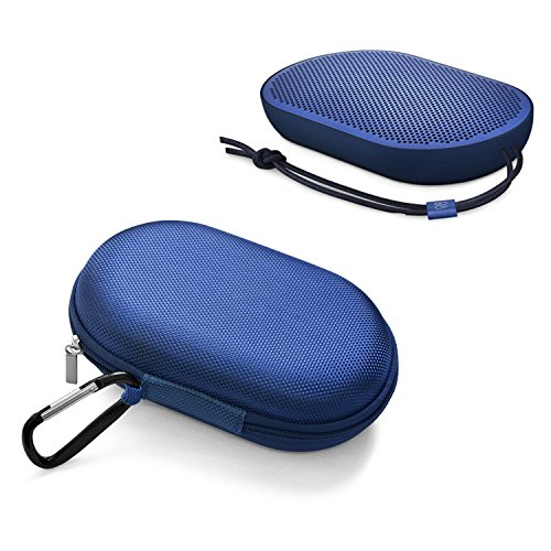 Esimen Beoplay P2 Pouch,Soft Carry Travel Portable Protective Storage Case Box Cover Bag Case for B&O Play Beoplay P2 Portable Bluetooth Speaker (Blue Case)