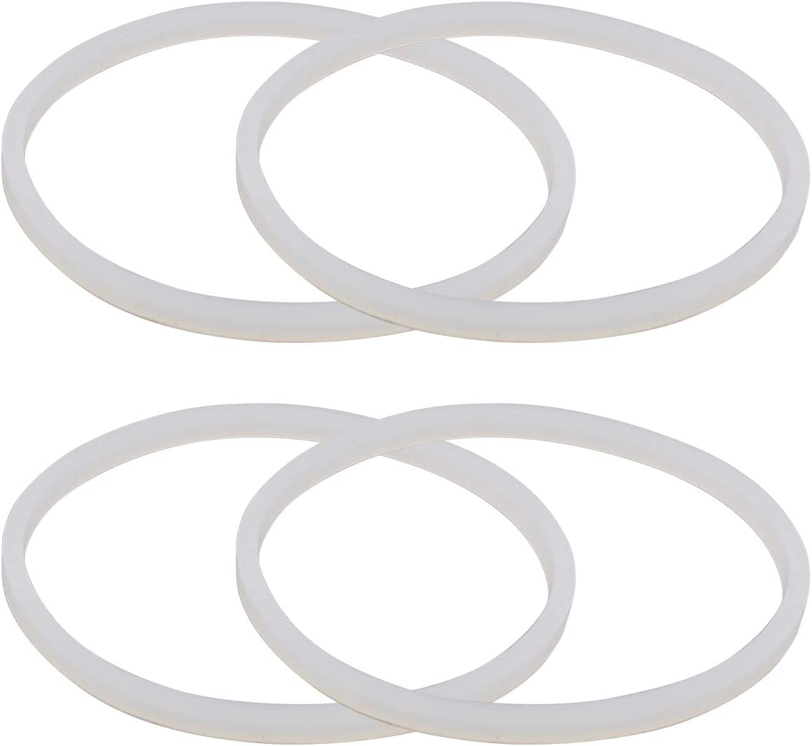 ApplianPar Blender Gasket Sealing O Ring White Rubber for Ninja Juicer Blender Pack of 4