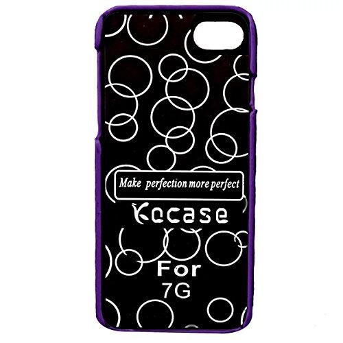 iPhone 7 Hülle, Apple iPhone 7 Hülle, Lifeturt [ Lila ] Gemalt Mode-Design PC Hardcase Handycover Schutzhülle Etui Telefon-Kasten Hülle Case für Apple iPhone 7