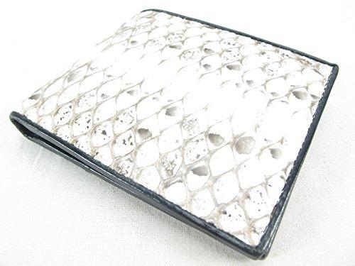 PELGIO Genuine Python Snake Skin Leather Bifold Wallet (Scale Burmese Natural) ()