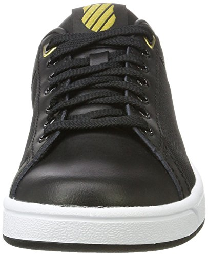 K-Swiss Clean Court Cmf, Zapatillas Para Mujer Negro (Black/White/Gold 099)