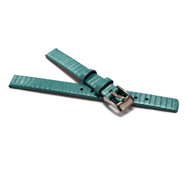 Alexis 10mm ウォッチストラップ本物のレザーバンドブルートカゲ時計バンドスプリングバーと取り外しツールを含むWB1235E10GB  B078HDQDHJ
