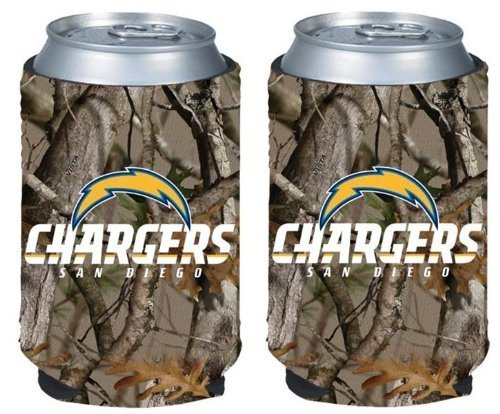 NFL Football Vista Camo Beer Can Kaddy Collapsible Koozie Holder 2-Pack - Pick Team! (San Diego -