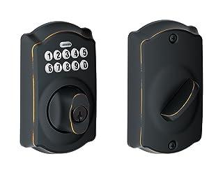 MiLocks XF-02OB Digital Deadbolt Door Lock with Keyless Entry via Remote Control and Keypad Code for Exterior Doors MiProducts Corporation