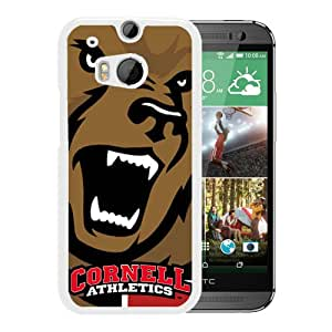 Ncaa Cornell Big Red 9 White HTC ONE M8 Protective Phone Cover Case