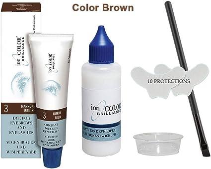 Kit de tinte de pestañas y cejas marrón 15 ml + accesorios Star Look