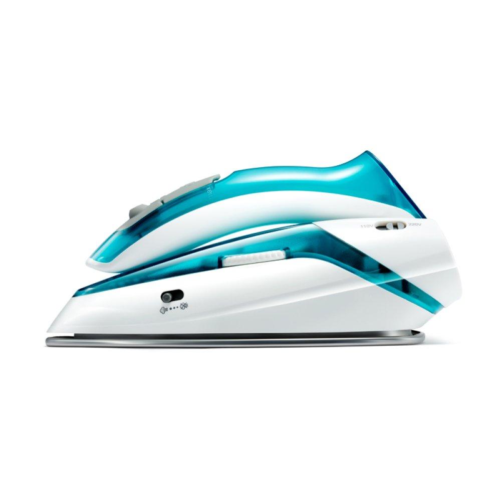 Supermini-Eisen-faltbares Handelektrisches Eisen Mit Plam-Größen-Leichtgewichtler Tragbar Für Reise,Blue-19.9*9.15*9.3cm