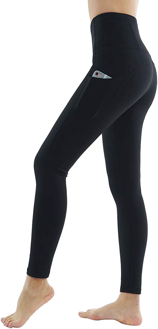 Dragon Fit High Waist Yoga Leggings with 3 Pockets,Tummy Control Workout Running 4 Way Stretch Yoga Pants