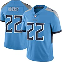Unisex NFL Camiseta Fútbol Titans 22# Henry Equipo Fútbol Training Jersey Uniformes