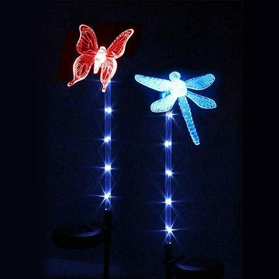 DRAGONFLY SUPER BRIGHT GARDEN OUTDOOR INDOOR LIGHT STAKE LIGHT BUTTERFLY