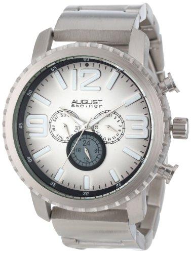 Multifunction Dial Watch (August Steiner Men's AS8067SS Multi-Function Gradient Dial Quartz Bracelet Watch)