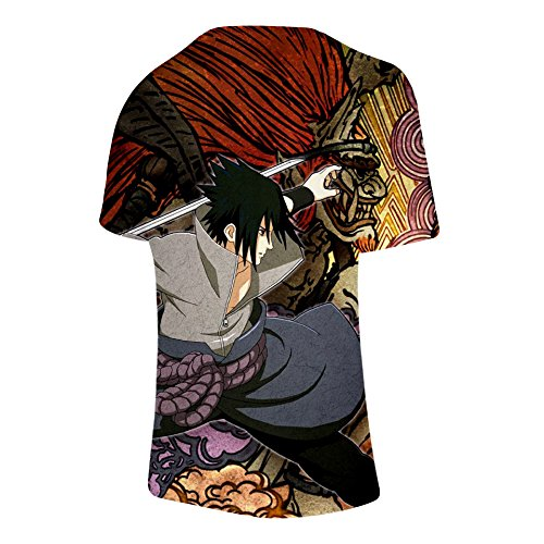 3xl Shirt Xxs T Uomo Ctooo Naruto Corte Maniche 06 3d A Unisex vSwgTxq