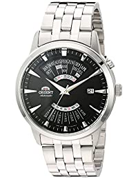 Orient Men's 'Multi-Calendar' Japanese Stainless Steel Automatic Watch, Color:Silver-Toned (Model: FEU0A003B0)