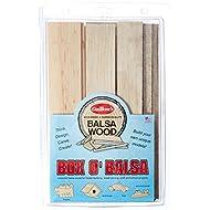 Guillow's Box O' Balsa Model Kit, Small, Random Sizes, 1-Pound Box
