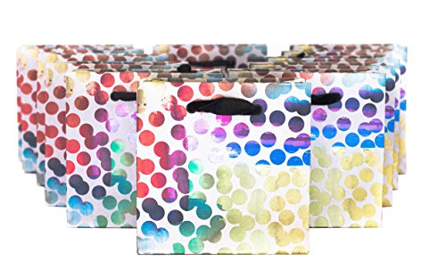 The Gift Wrap Company Square Gift Tote Bags, Pack of 12, Petite, Lumiere