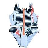 Shining4U Hot Selling Popular The Latest Vintage Flower Zipper Swimwear Bikini SetGreat. White1XL(US8-10)