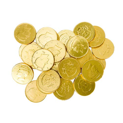 Bulk Gold Milk Chocolate Coins Made In The USA 4 Pounds (Half Dollars) (Half Dollar Gold Coins)