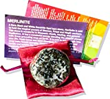 Mystic Merlinite Healing Palm Stone with Pouch