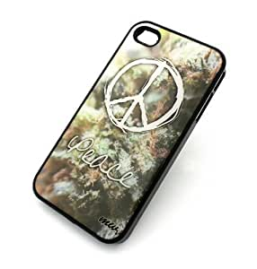 BLACK Snap On Case iphone 5c Plastic Cover - PEACE WEED OG KUSH 420 chronic medicinal sour diesel marijuana mj canabis sativa