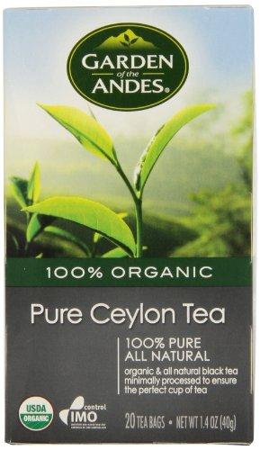 [Garden of the Andes 100% Organic Herbal Tea, Pure Ceylon, 20-Count] (Garden Gourmet Tea)