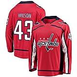 Mens Hockey Jersey Red/Strip S-XXXL(Red, Small)