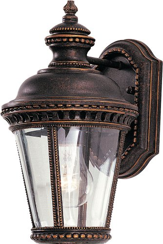 Feiss OL1900GBZ-LED Castle LED Outdoor Patio Wall Lantern, 1-Light, 14watts, Bronze (7''W by 12''H) by Feiss